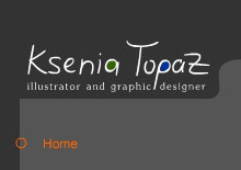 Site for Illustrator Ksenia Topaz